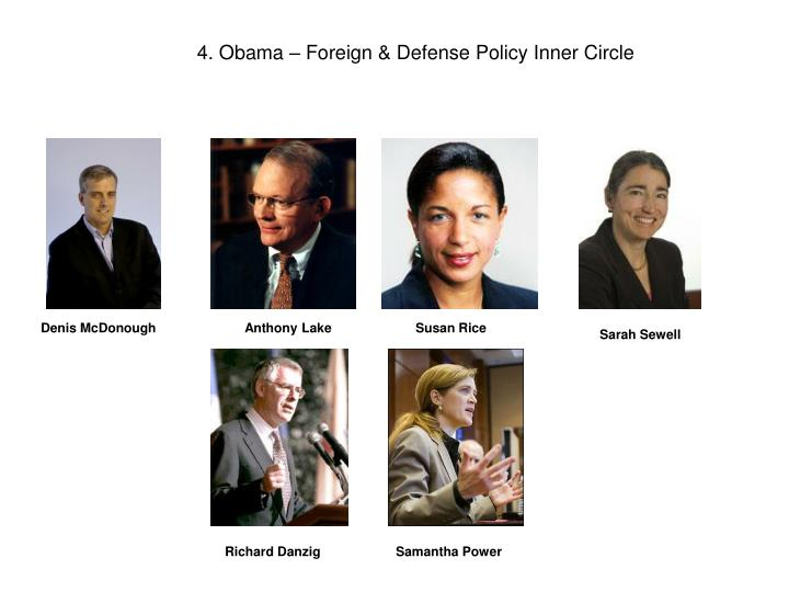 4. Obama – Foreign & Defense Policy Inner Circle