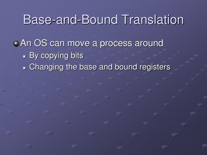 Base-and-Bound Translation