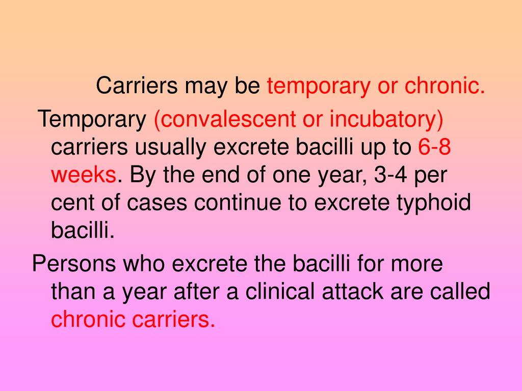 Carriers may be