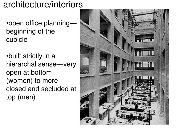 architecture/interiors