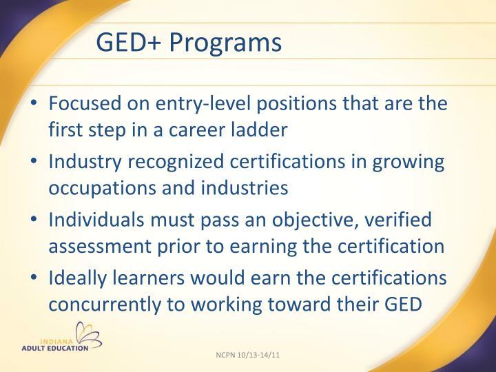 GED+ Programs
