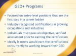 ged programs