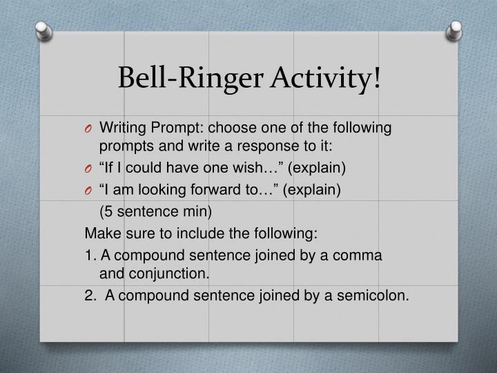 Bell-Ringer Activity!
