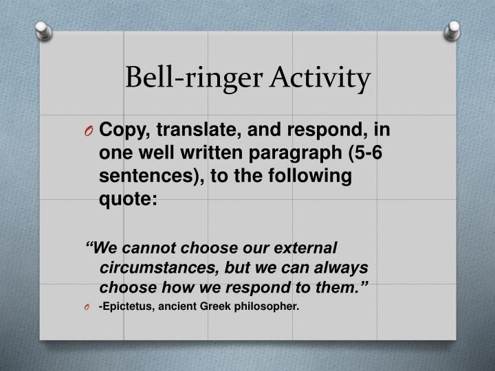 Bell-ringer Activity