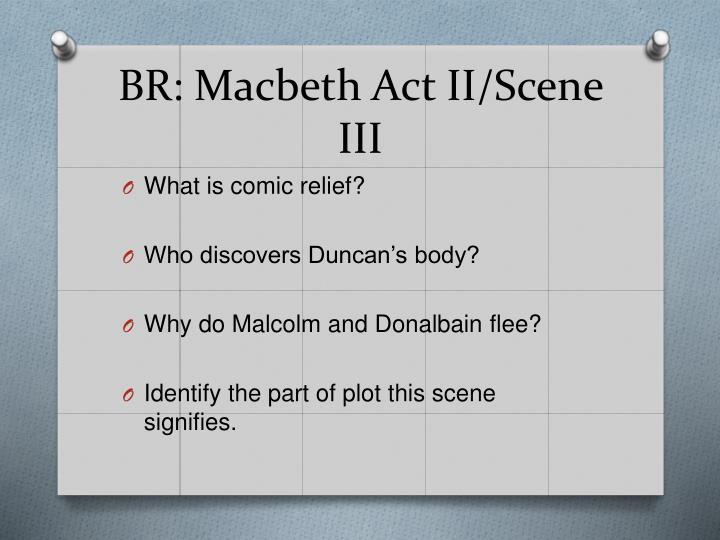 BR: Macbeth Act II/Scene III