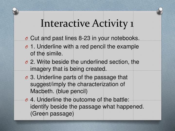 Interactive Activity 1