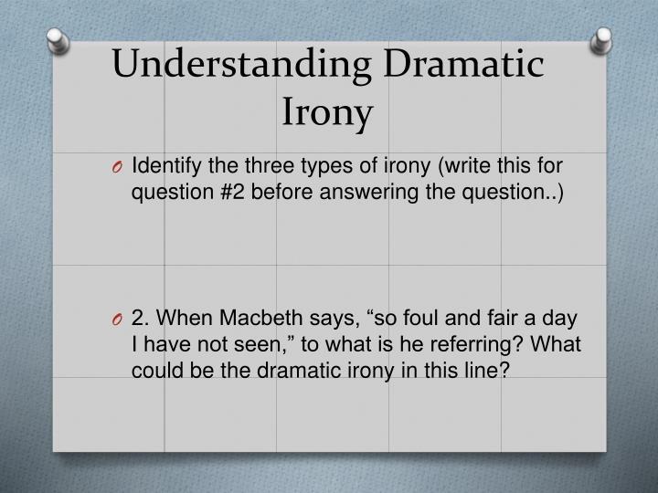 Understanding Dramatic Irony