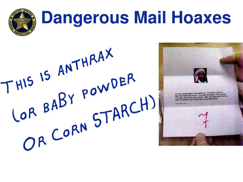 Dangerous Mail Hoaxes