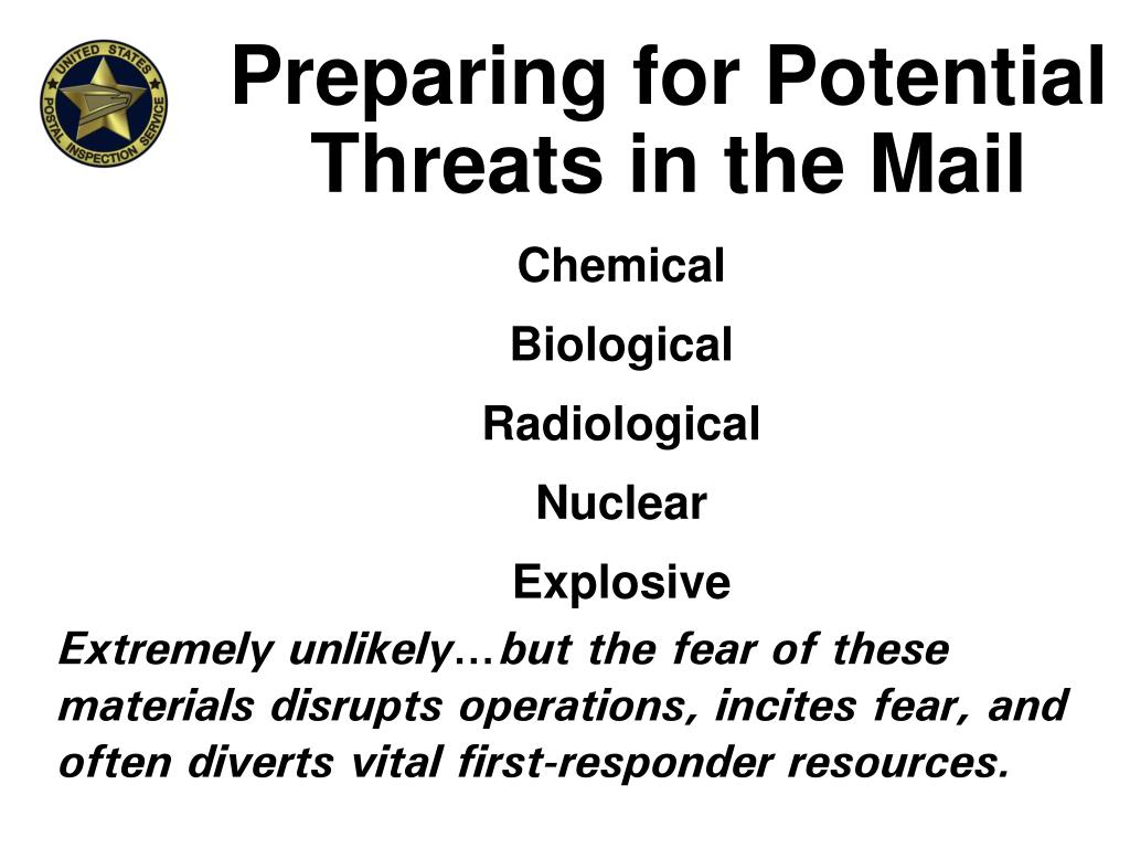 Preparing for Potential Threats in the Mail
