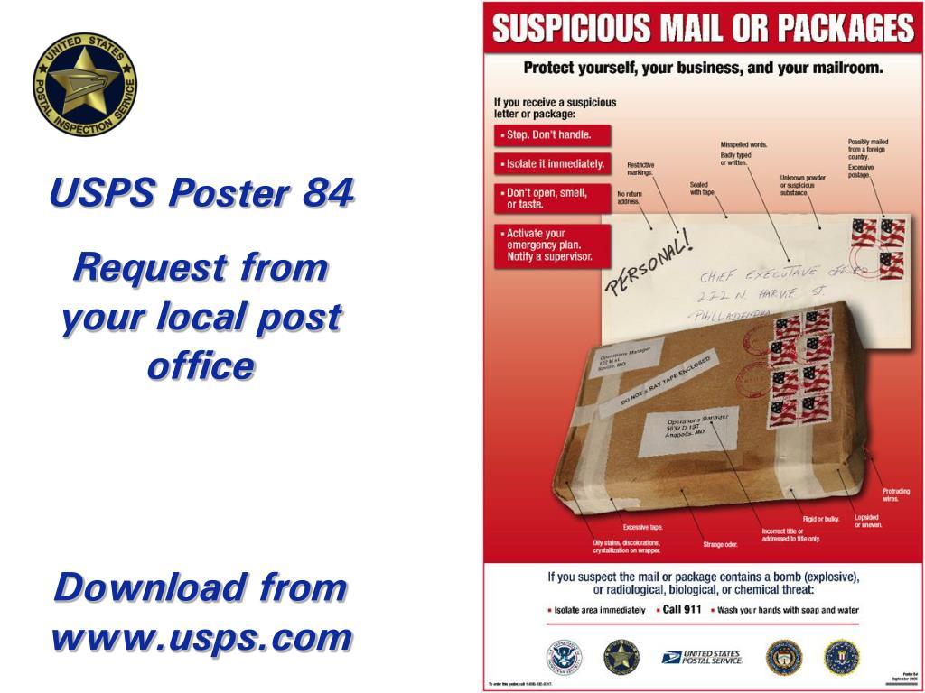 USPS Poster 84