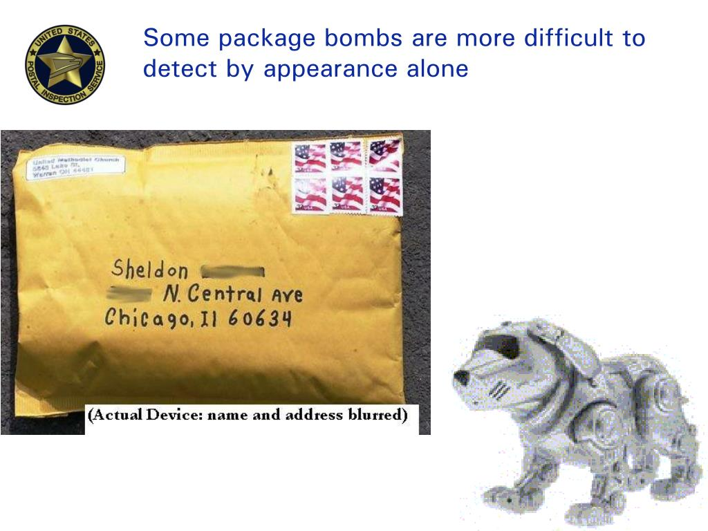 Some package bombs are more difficult to detect by appearance alone