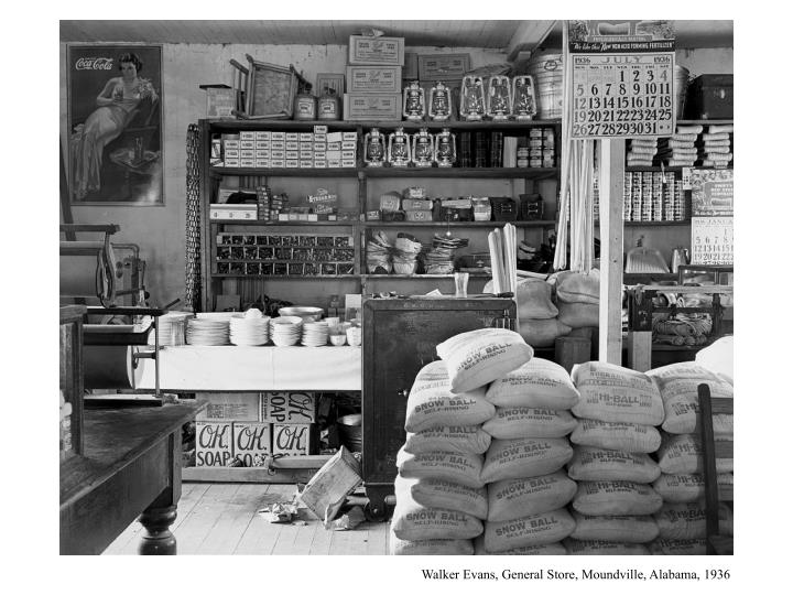 Walker Evans, General Store, Moundville, Alabama, 1936