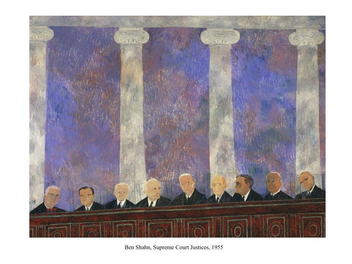 Ben Shahn, Supreme Court Justices, 1955