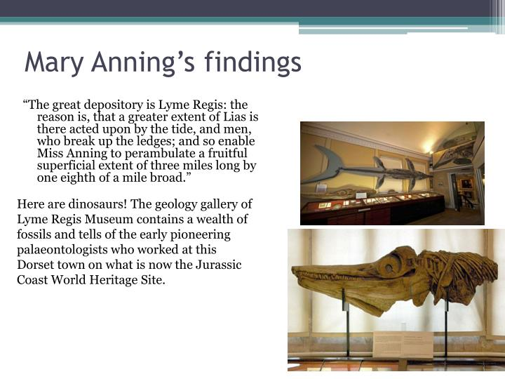 Mary anning s findings