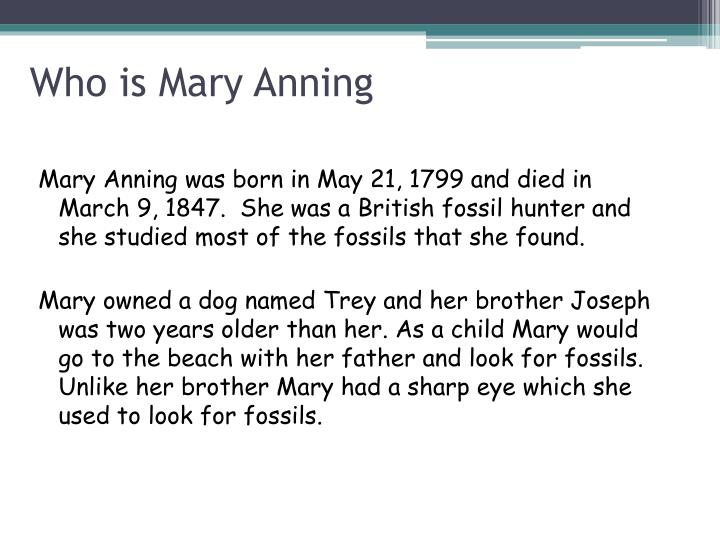 Who is mary anning