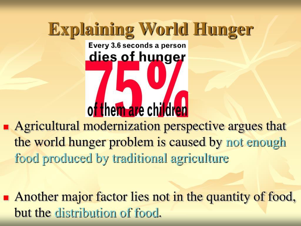 Explaining World Hunger