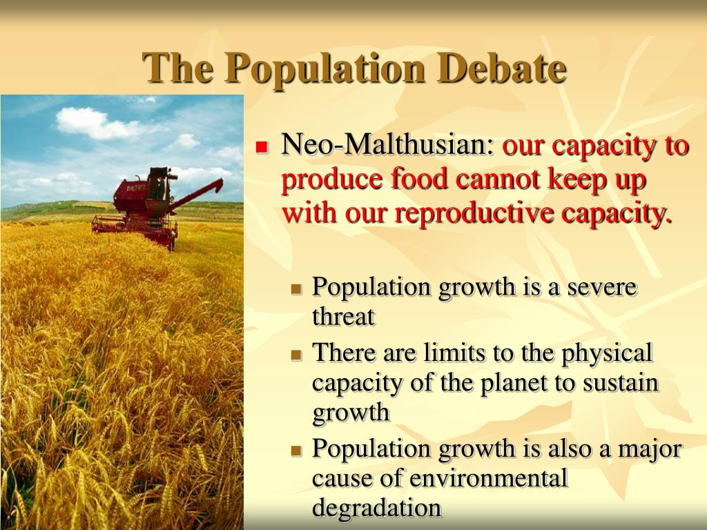 The Population Debate