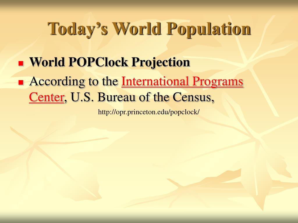 Today's World Population