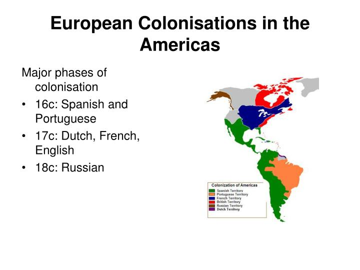 European colonisations in the americas