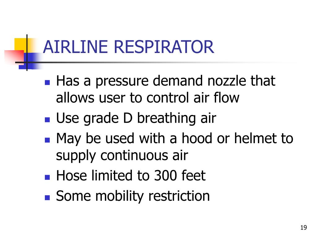 AIRLINE RESPIRATOR