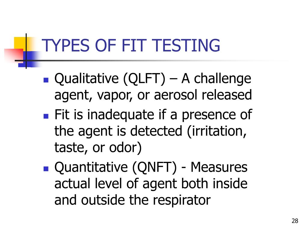 TYPES OF FIT TESTING
