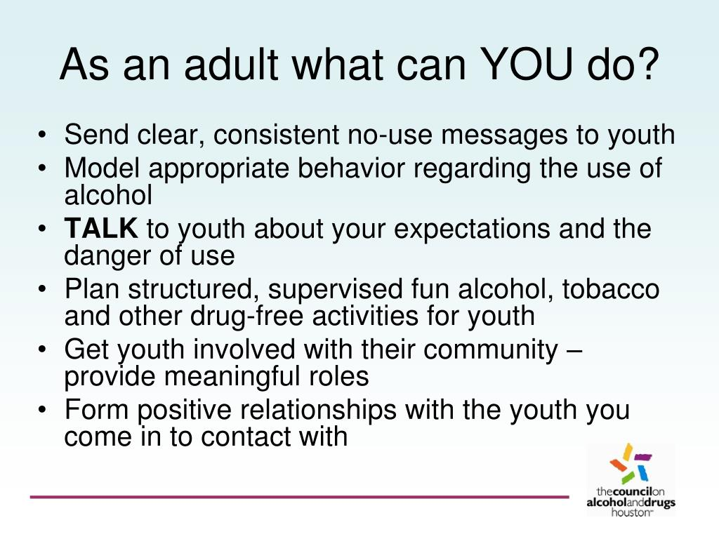 As an adult what can YOU do?