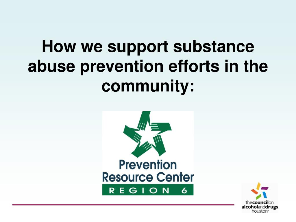 How we support substance abuse prevention efforts in the community: