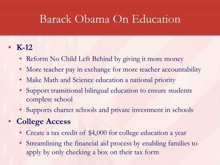 Barack Obama On Education