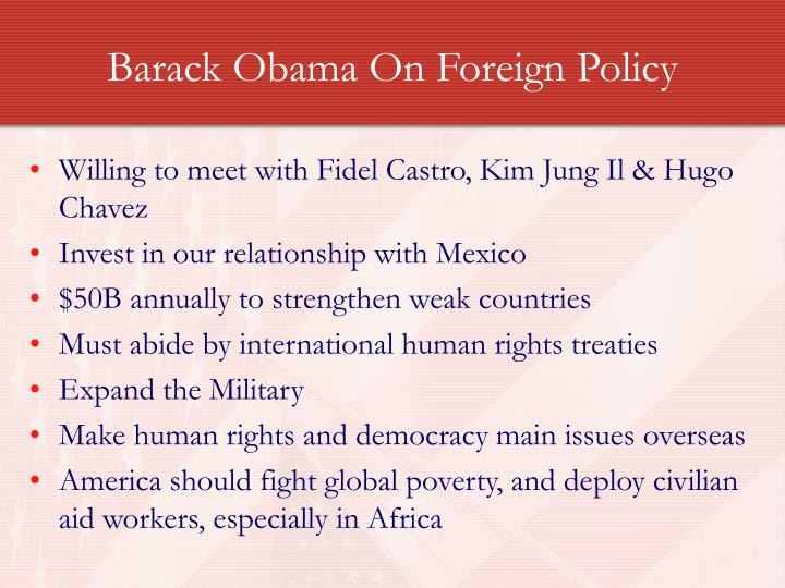 Barack Obama On Foreign Policy