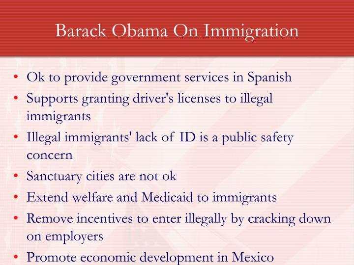 Barack Obama On Immigration