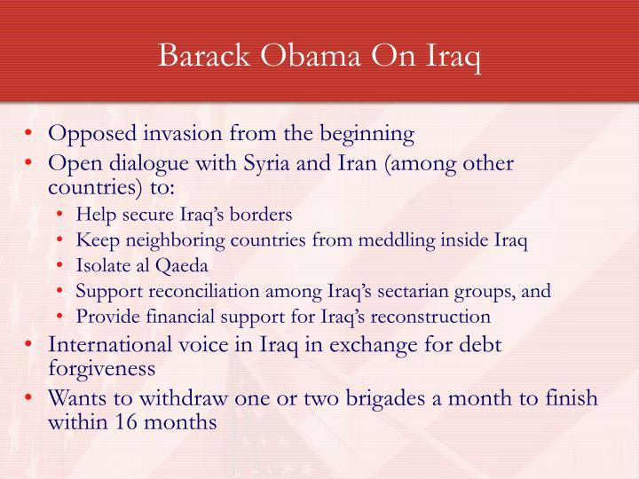 Barack Obama On Iraq