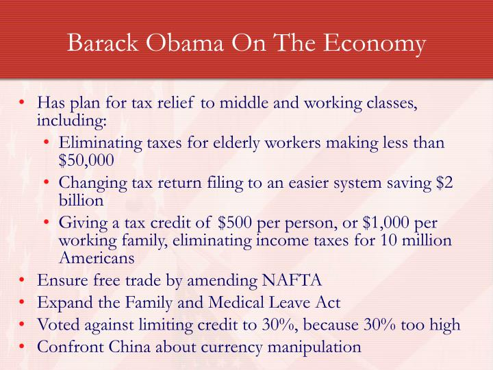 Barack Obama On The Economy
