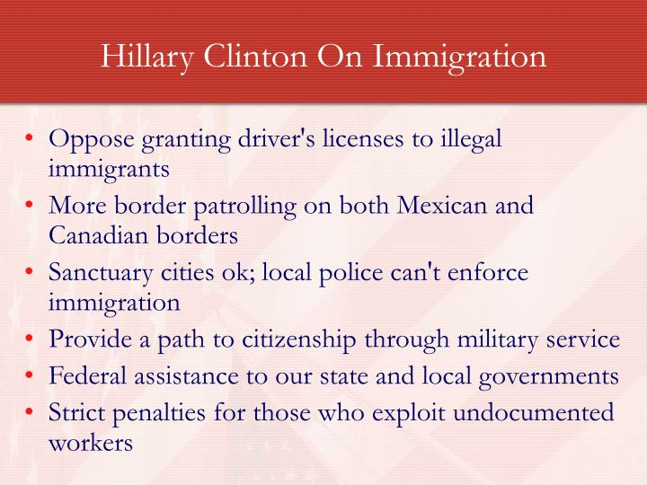Hillary Clinton On Immigration