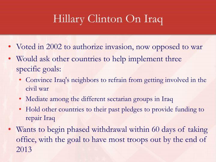 Hillary Clinton On Iraq
