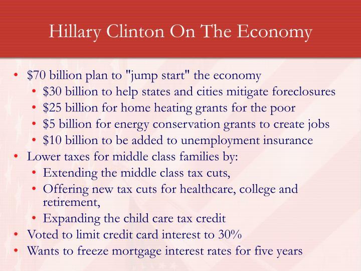 Hillary Clinton On The Economy
