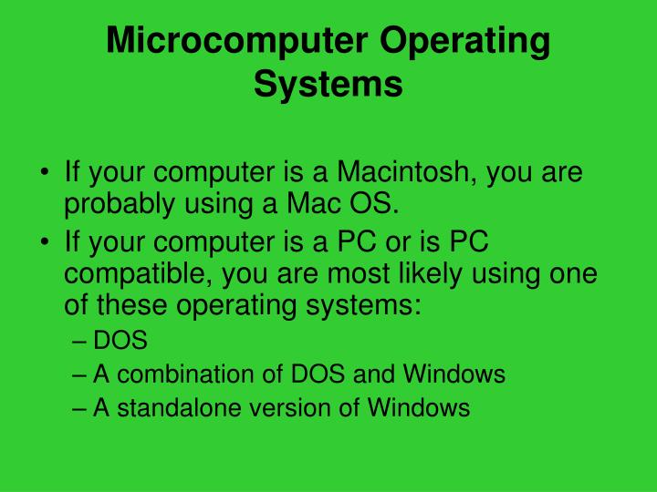 Microcomputer Operating Systems