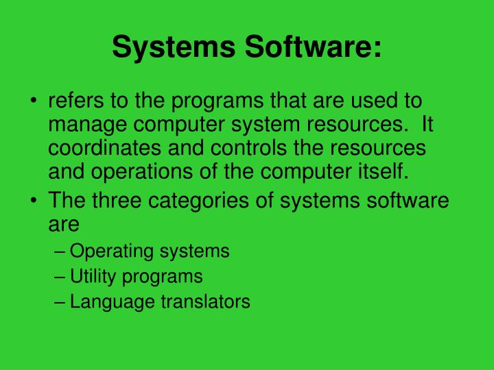 Systems Software: