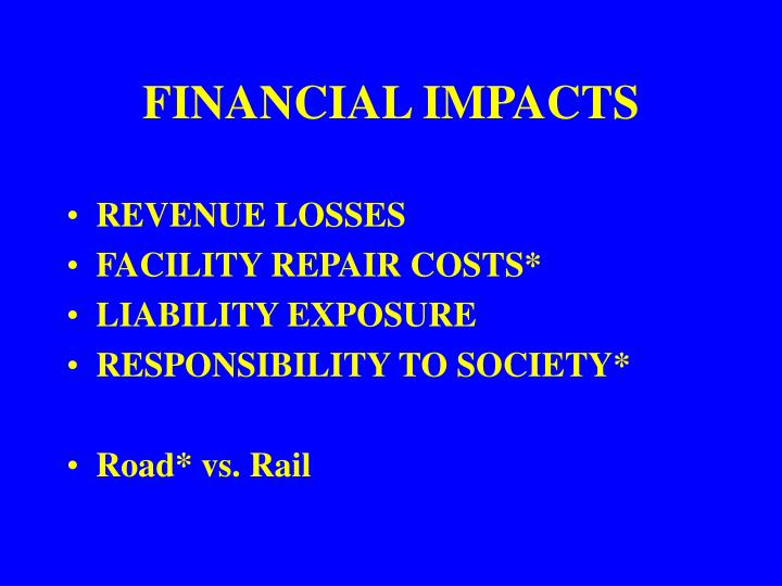 FINANCIAL IMPACTS