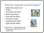 how do i prevent lyme disease