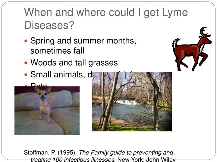 When and where could I get Lyme Diseases?