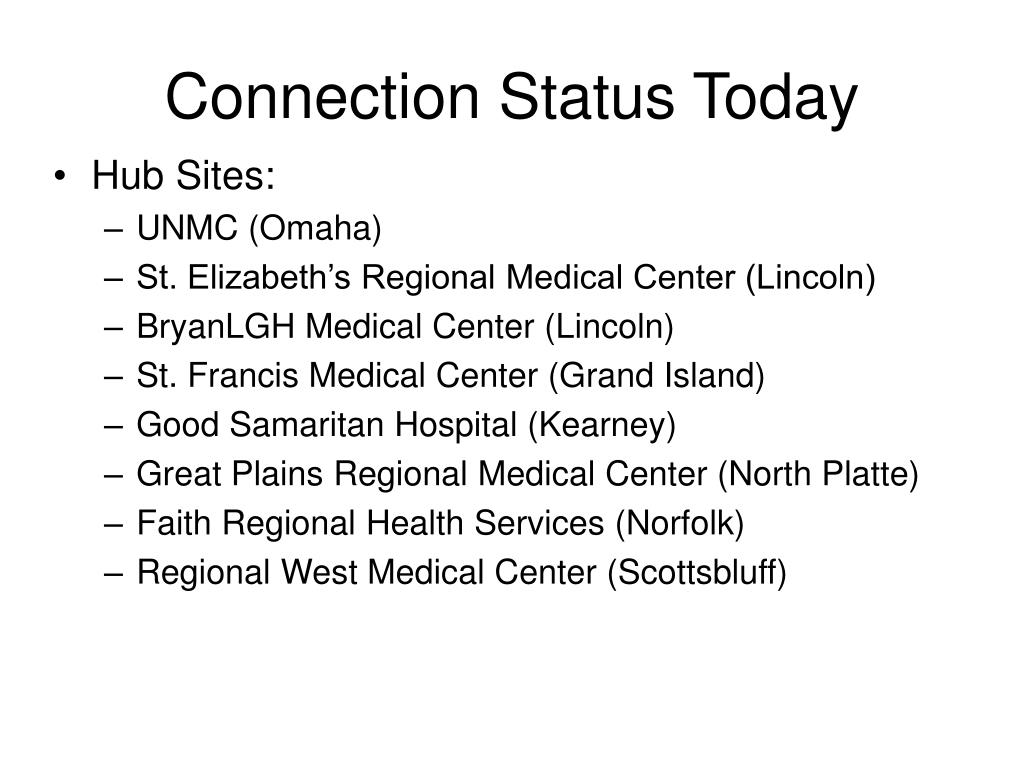 Connection Status Today