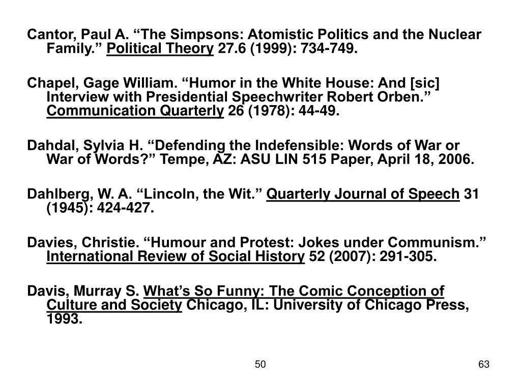 "Cantor, Paul A. ""The Simpsons: Atomistic Politics and the Nuclear Family."""