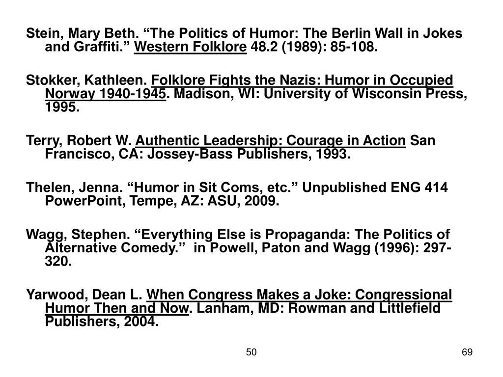 "Stein, Mary Beth. ""The Politics of Humor: The Berlin Wall in Jokes and Graffiti."""