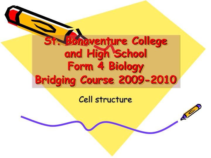 St bonaventure college and high school form 4 biology bridging course 2009 2010