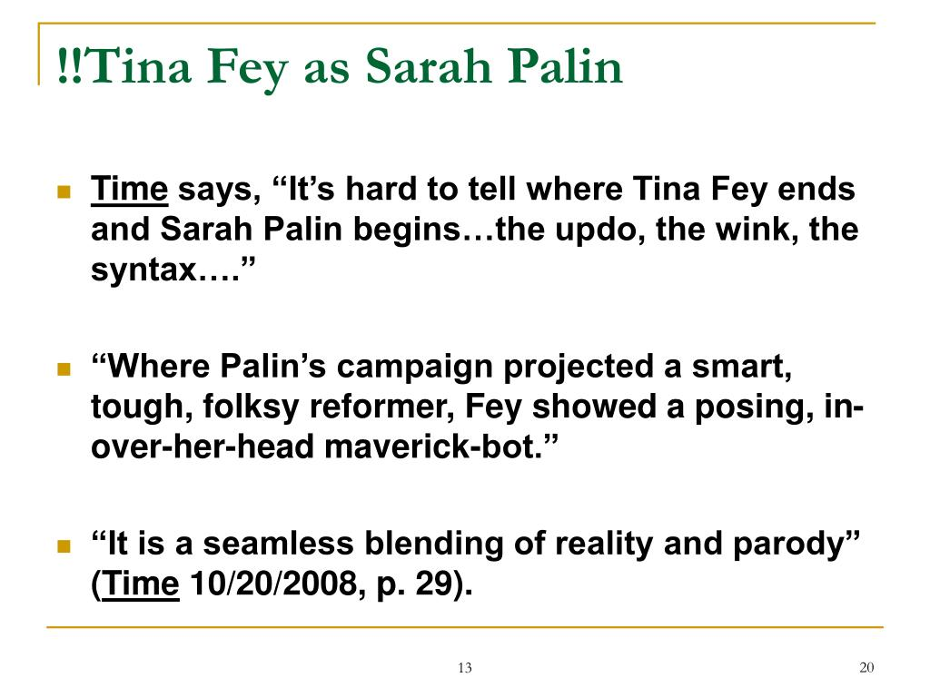 !!Tina Fey as Sarah Palin