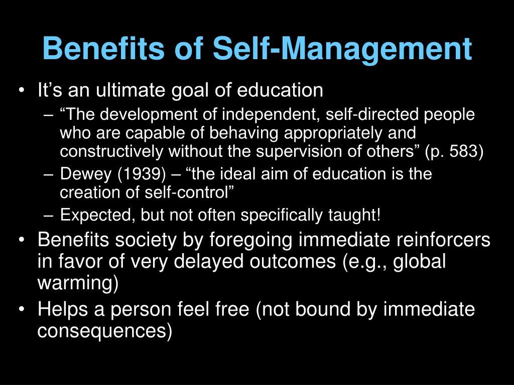 Benefits of Self-Management