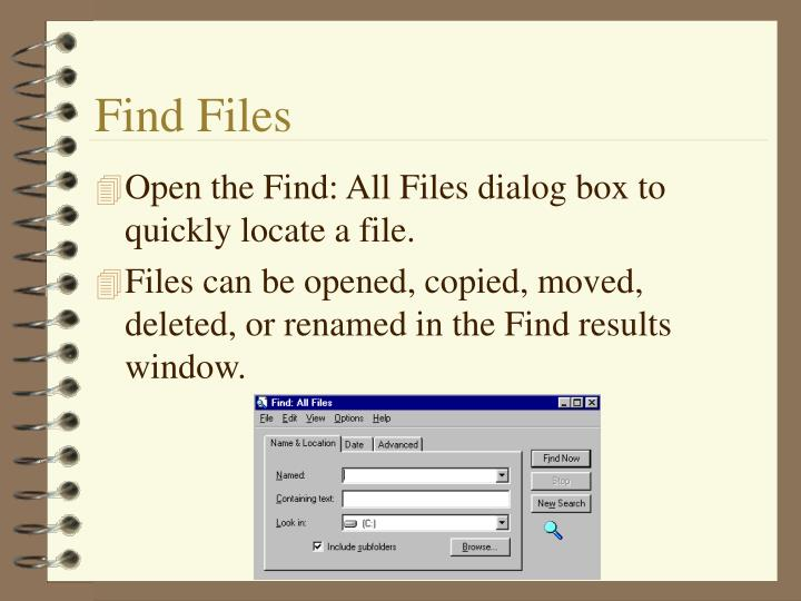 Find Files