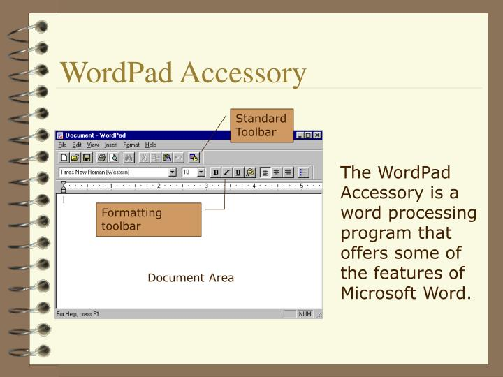 WordPad Accessory