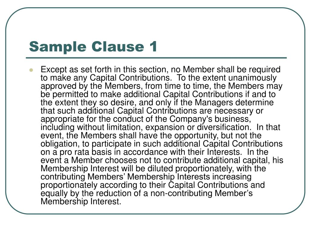 Sample Clause 1