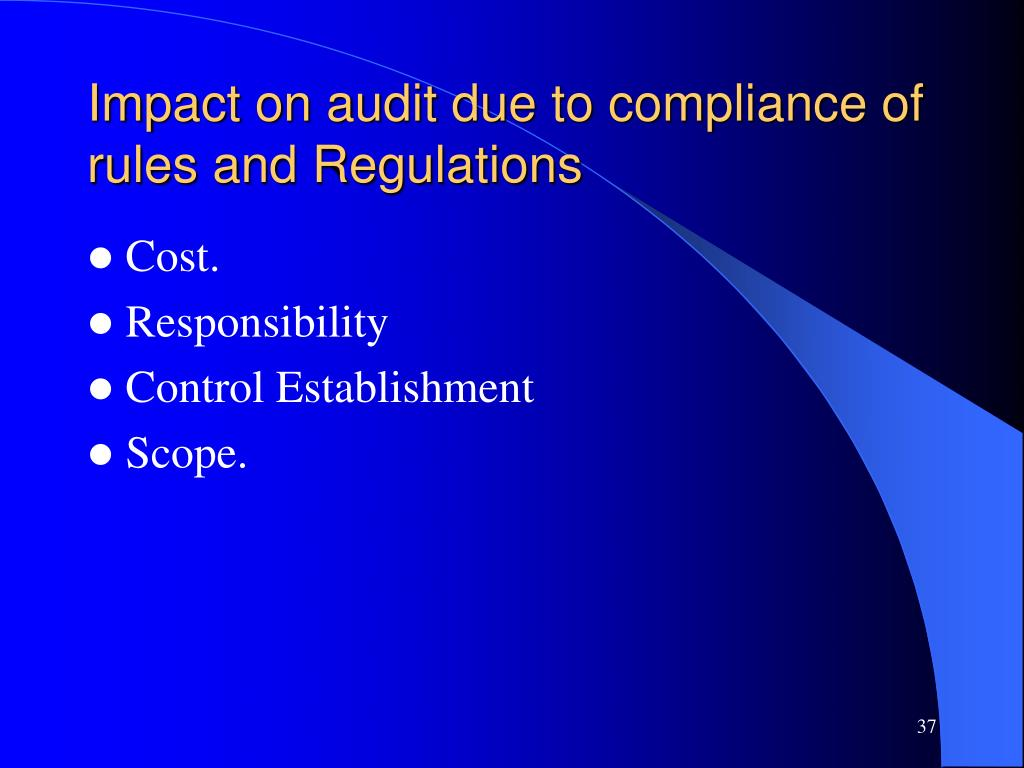 Impact on audit due to compliance of rules and Regulations